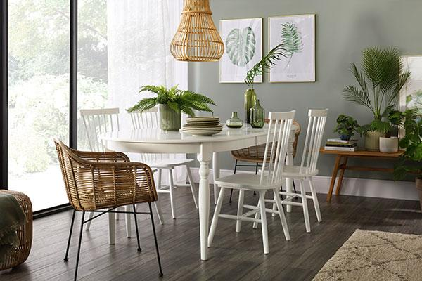 Albany Table & Pendle Dining Chair White