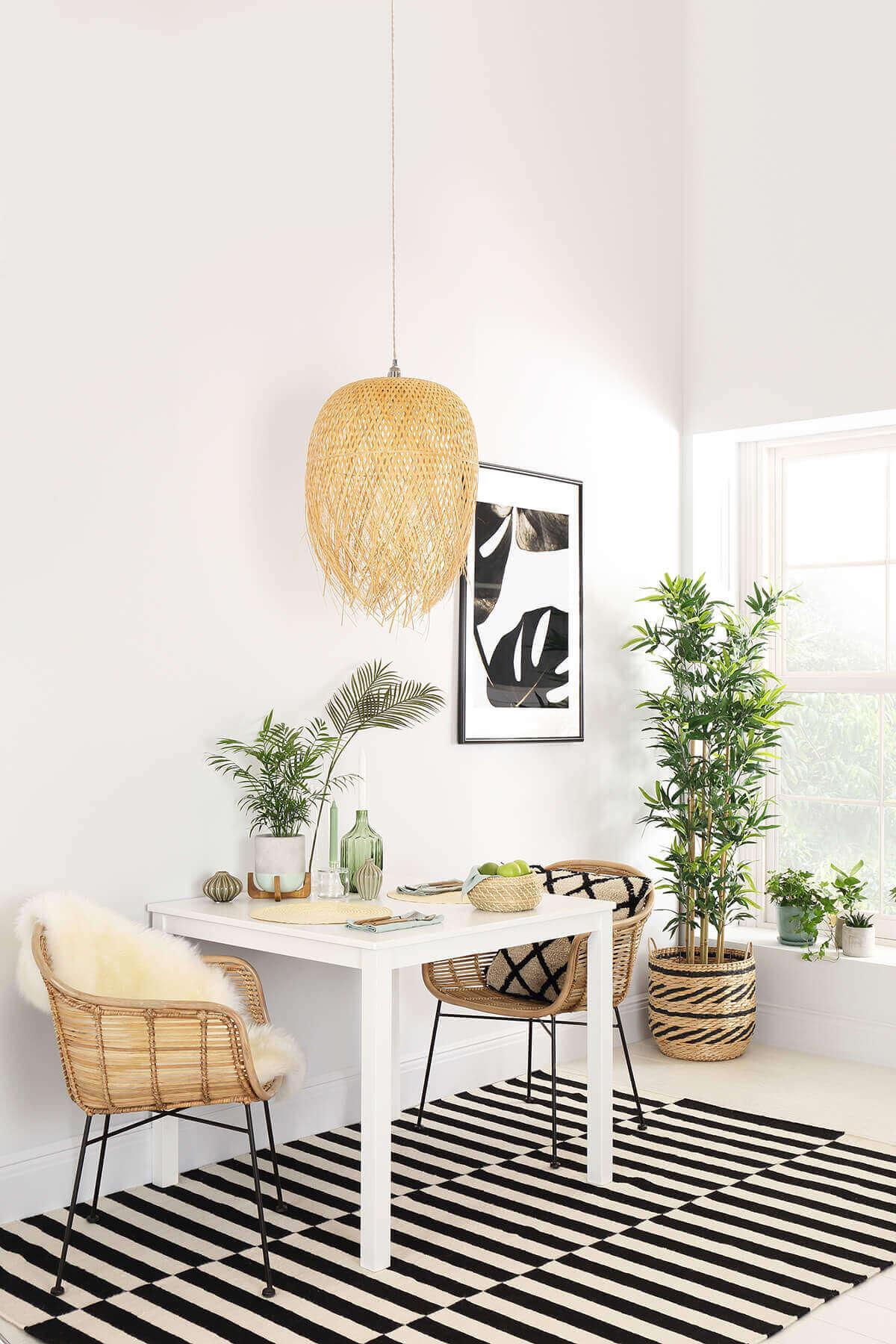 Milton Square Dining Table - White 90cm
