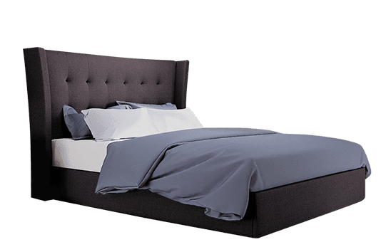 Kenley Slate Fabric Ottoman Bed