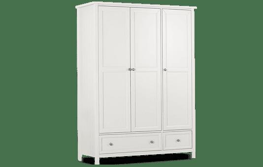 Dorset White 3 Door Wardrobe