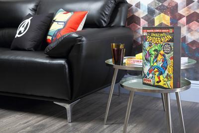 Enzo Black Leather Sofa - 2 Seater