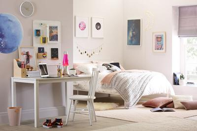 Denver White Wooden Bed - Double