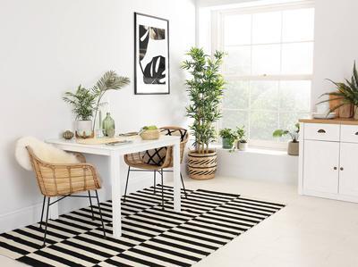 Milton Square Dining Room Table 90x90 (White)