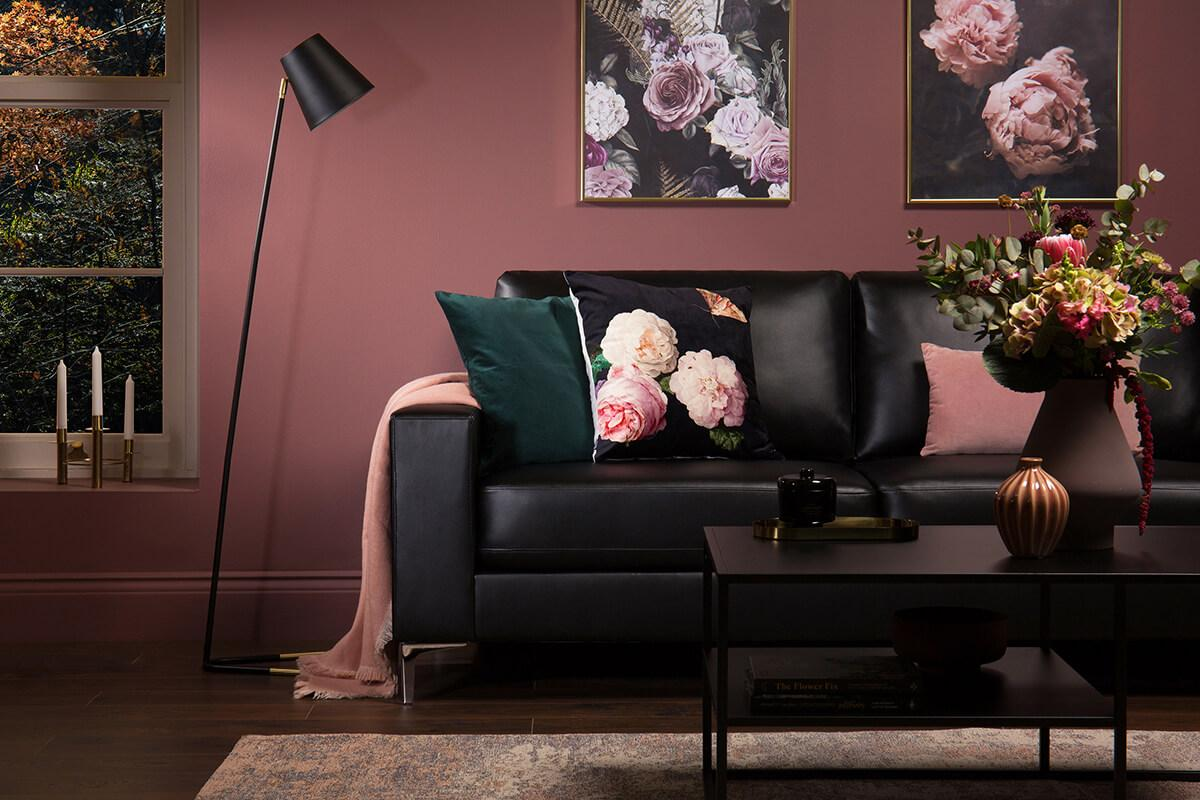 Baltimore Black Leather Sofa - 2 Seater