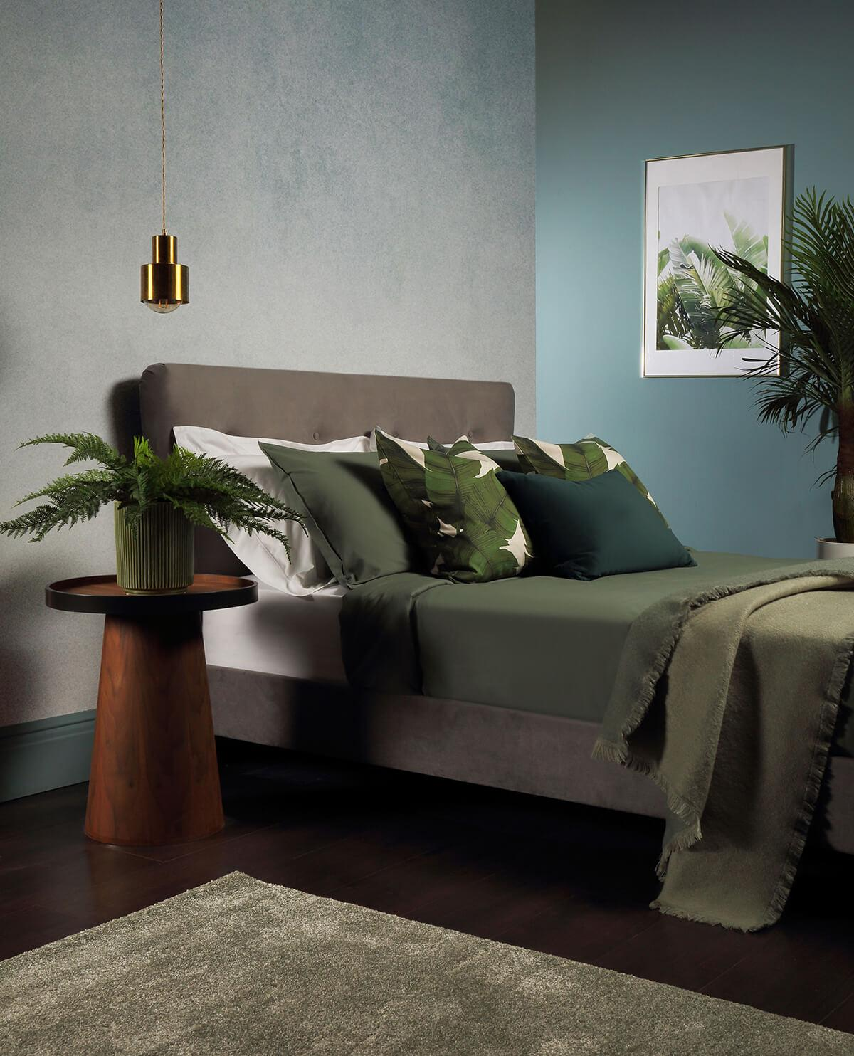 Pemberton Grey Velvet Bed - Double