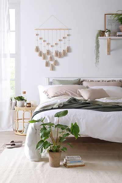 Denver White Wooden Bed
