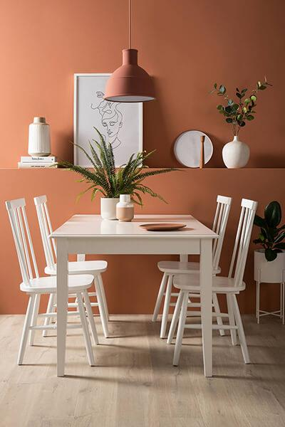 Wiltshire White Dining Table with Storage - with 4 Pendle Chairs