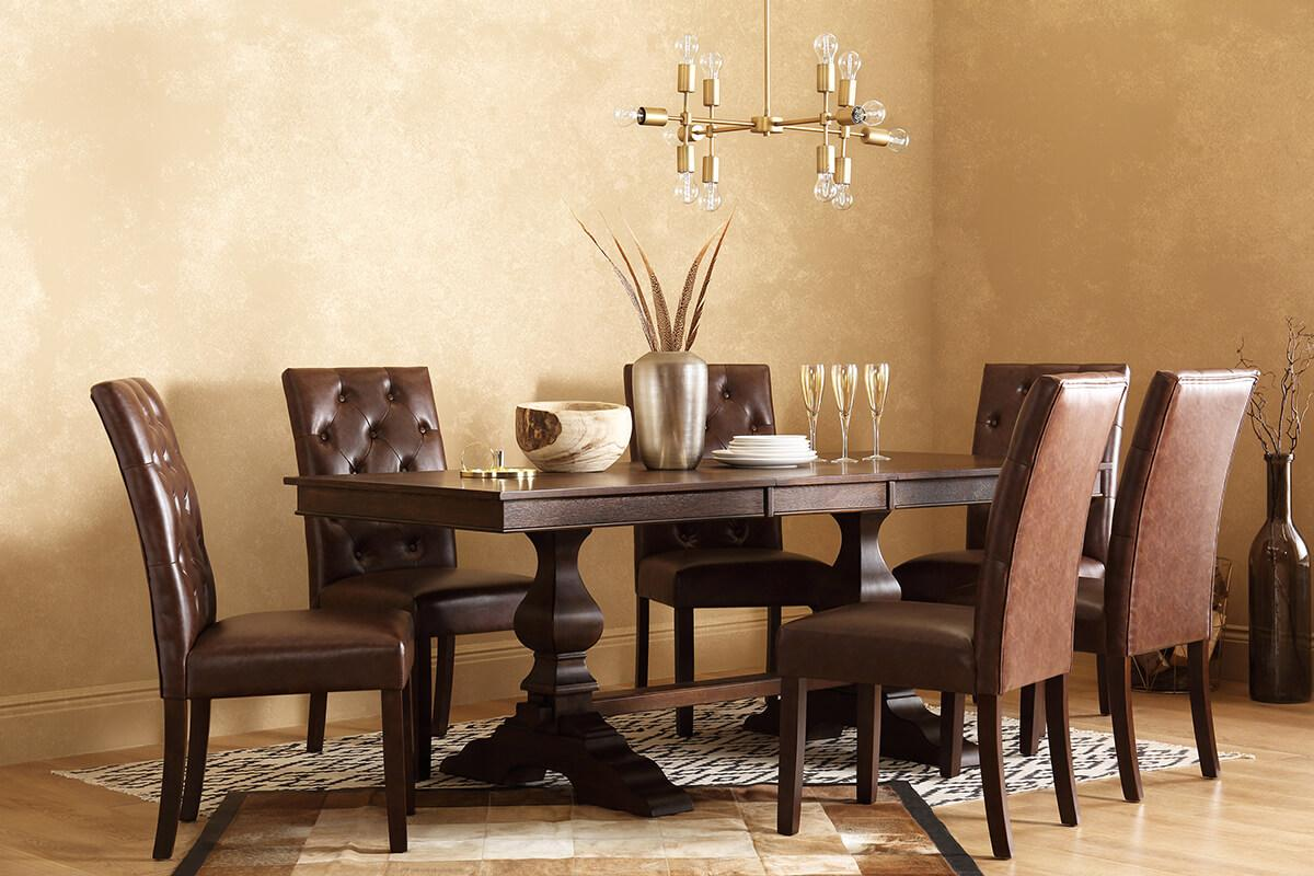 Cavendish Dark Wood Extending Dining Table - 160 - 200cm