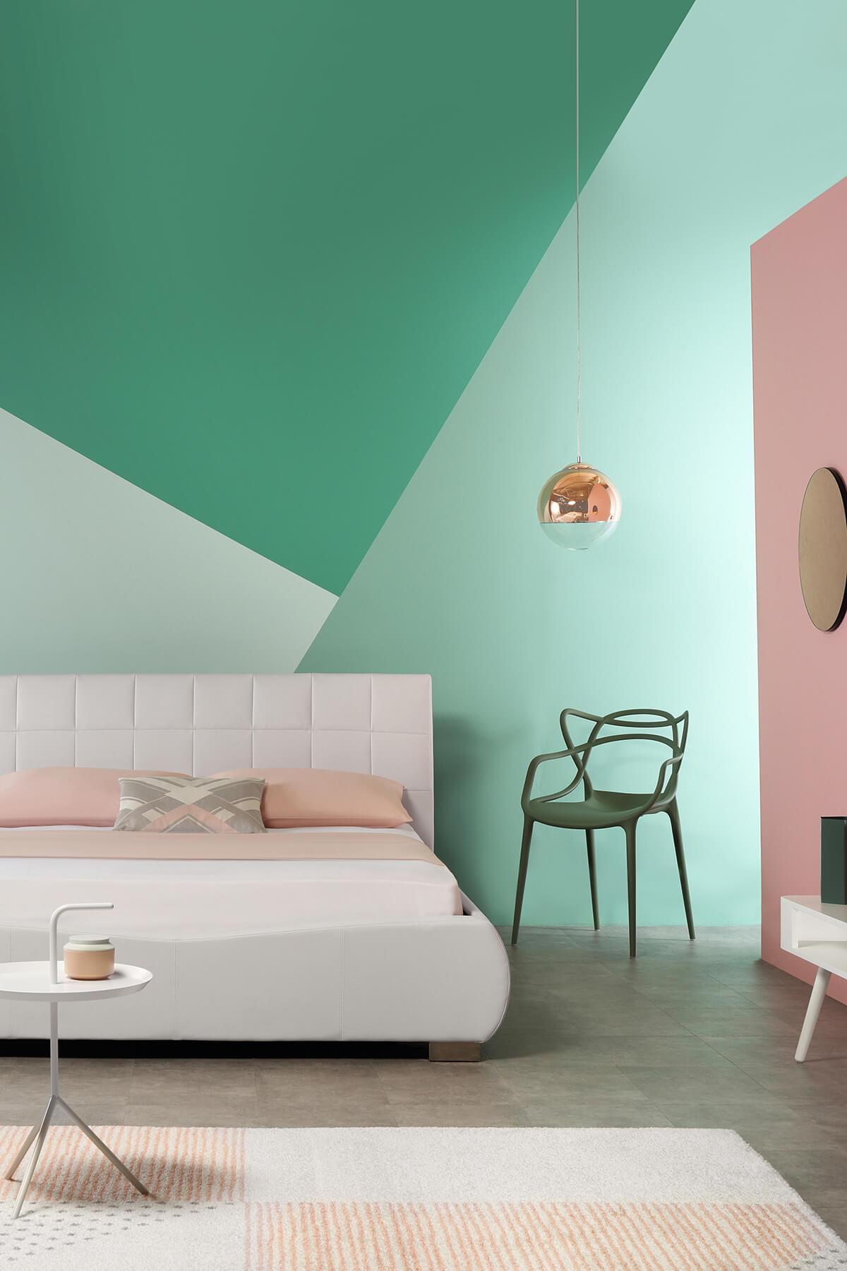 Dorado white leather double bed