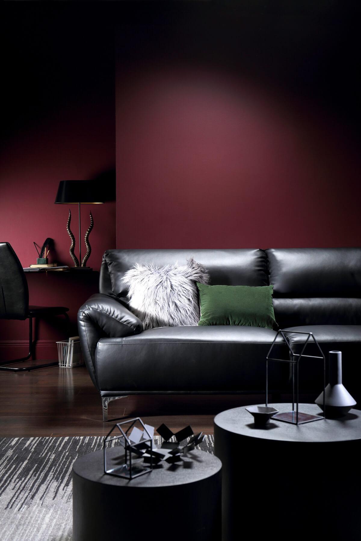 Enzo Black Leather Sofa - 3 Seater