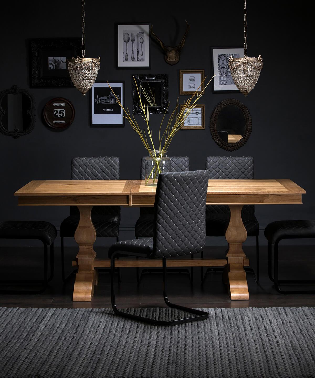 Cavendish Oak Extending Dining Table - 160 - 200cm
