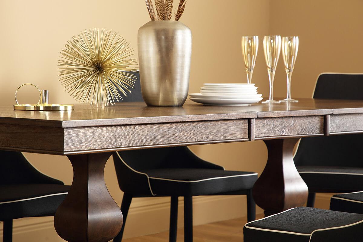 Cavendish Dark Wood Extending Dining Table - 160 - 200cm