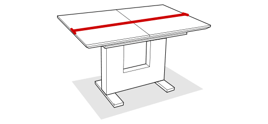 Table length before extending