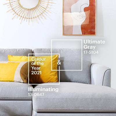 Pantone Colour of the Year 2021: Ultimate Gray & Illuminating in 5 Interior Styles