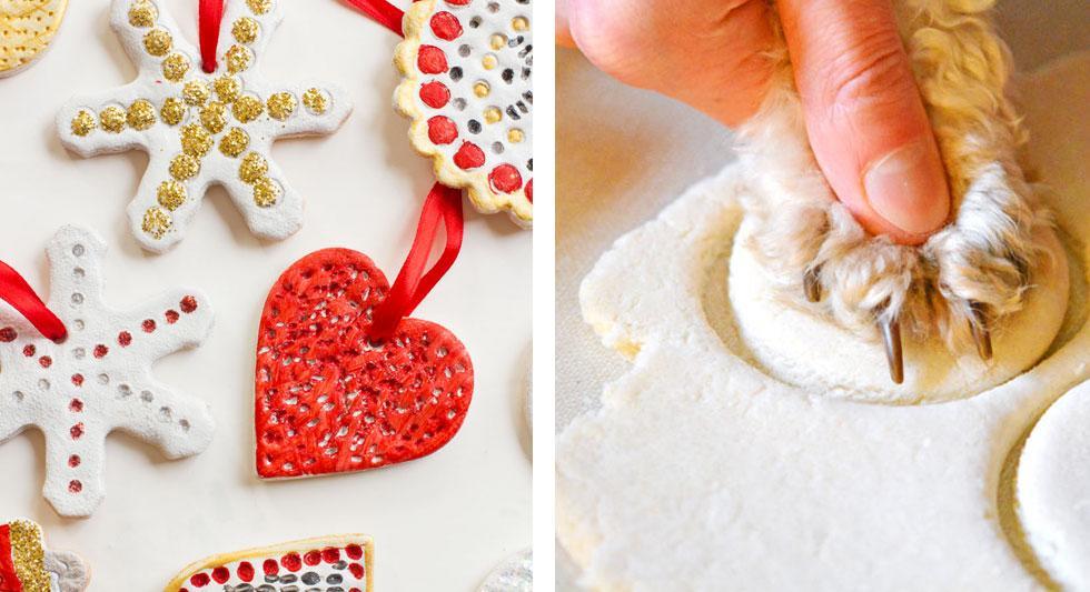 Colourful salt dough ornaments.
