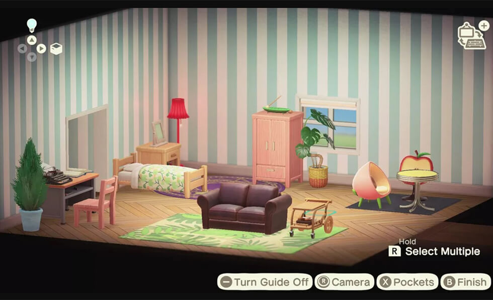 Animal crossing house divided into zones