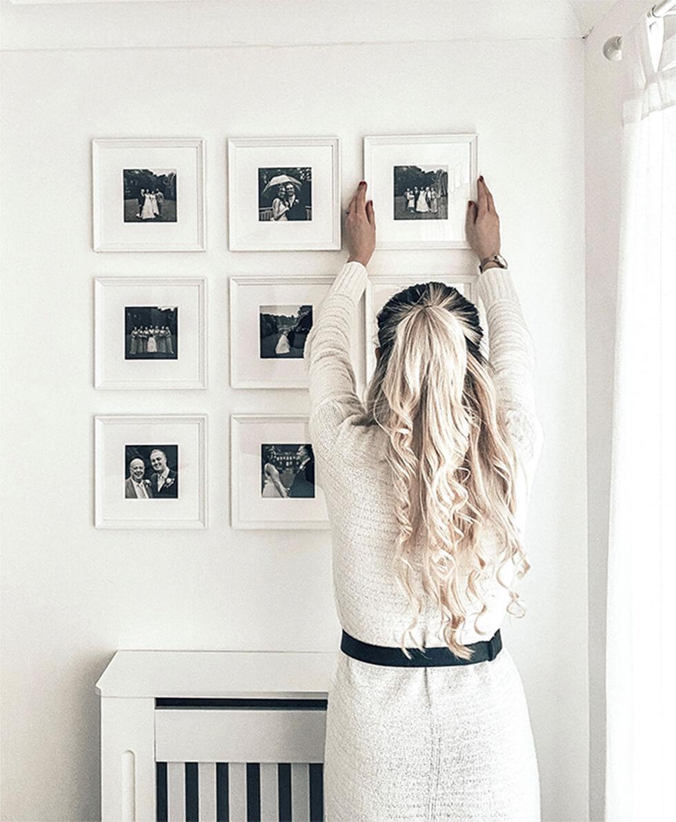 Monochrome gallery wall