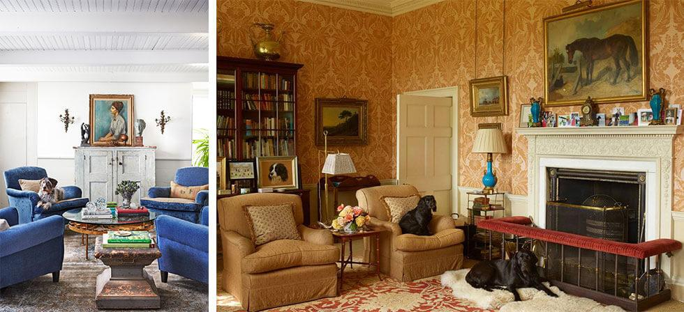 Country living room ideas displaying unique antique pieces