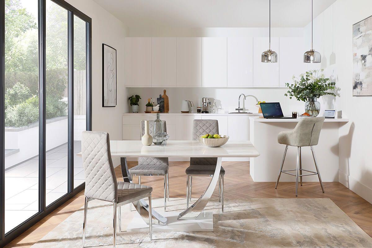 Peake White Gloss and Renzo Grey Velvet - A Smart Home - AW21 - Main - Landscape