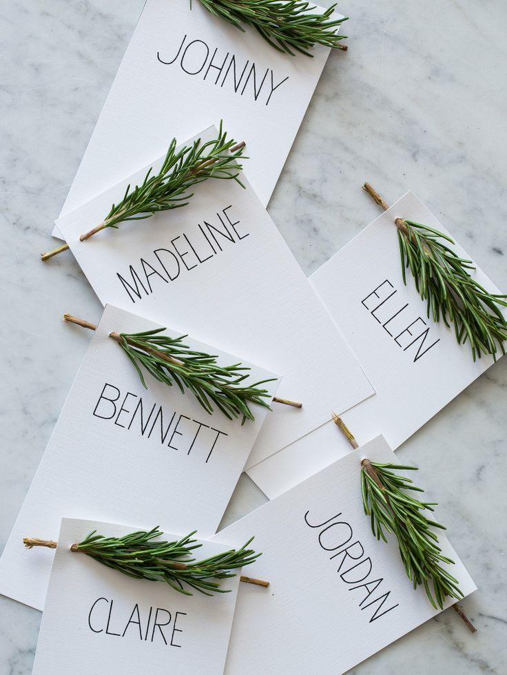 Personalised name cards.
