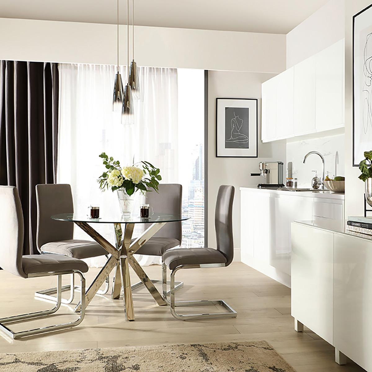 Plaza Table and Perth Chairs - Designer Living