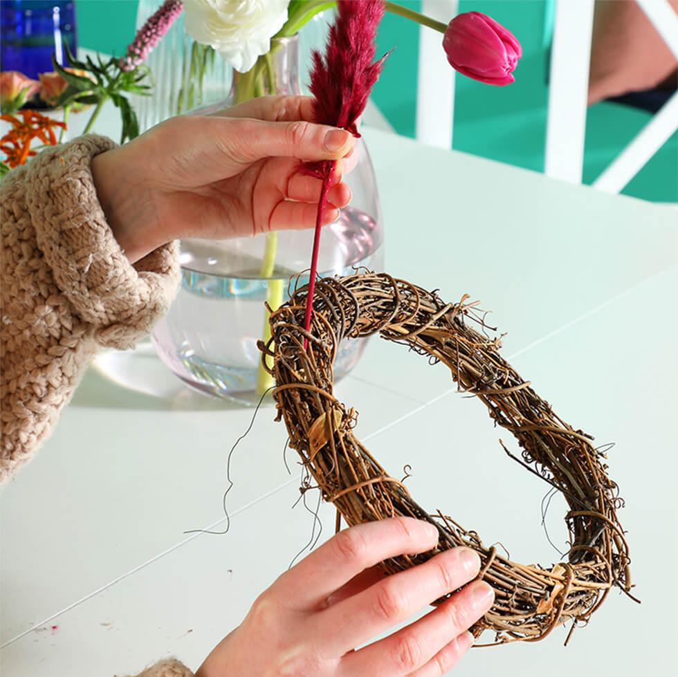Step 1 - Plan how you want the floral hoop to look