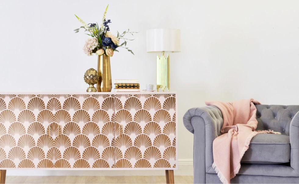 DIY art deco side table