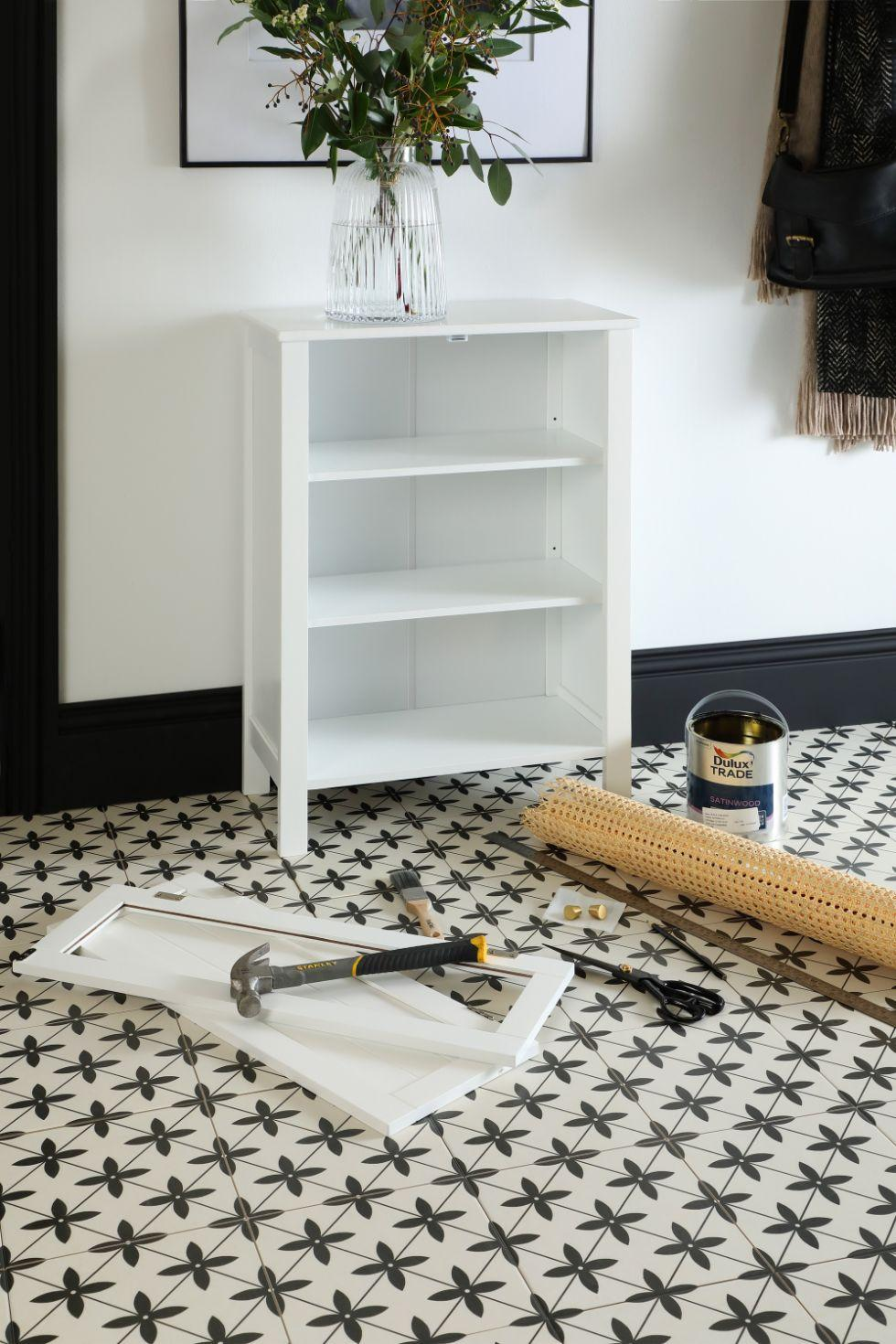 Materials needed to DIY a rattan sideboard