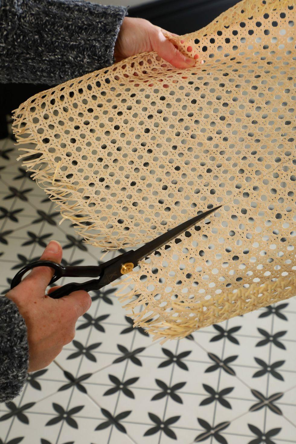 Step 3 - Measure and cut cane webbing