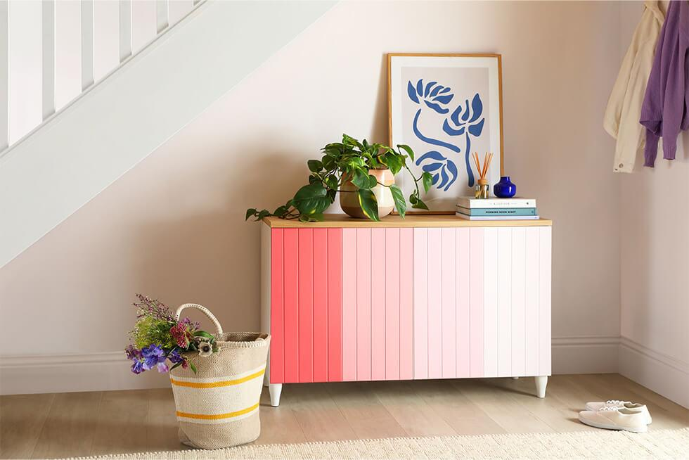 Pink ombre sideboard diy by furniture and choice