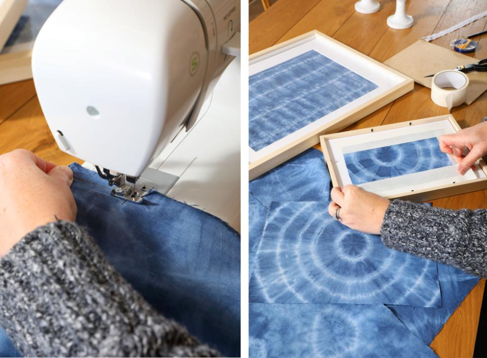Step 8 - Sew the fabric into a cushion cover