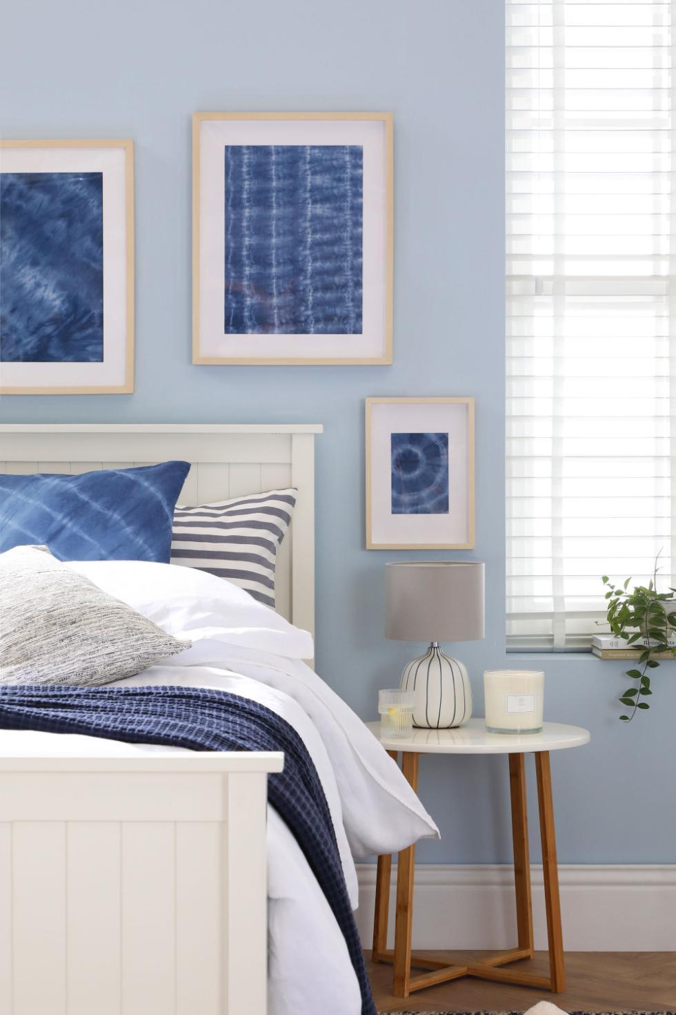 Step 9 - Shibori fabric as a wall print and cushion cover