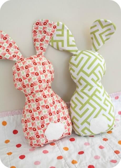 Fabric rabbit toys.