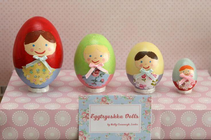 Painted eggs.