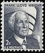 Frank Lloyd Wright in a stamp