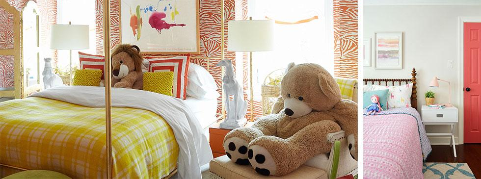 Girls bedrooms in colourful maximalist prints