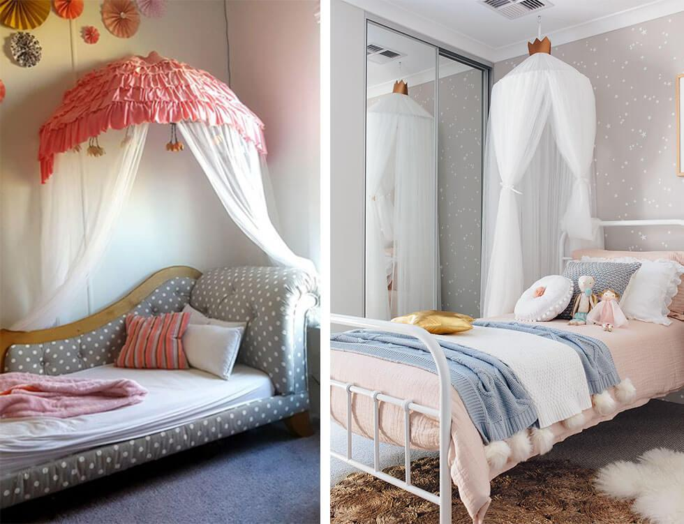 Dreamy white canopies for girls bedrooms