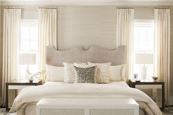 White bedroom with natural lighting