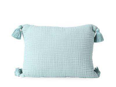 Turquoise Tasselled Cushion - H&M