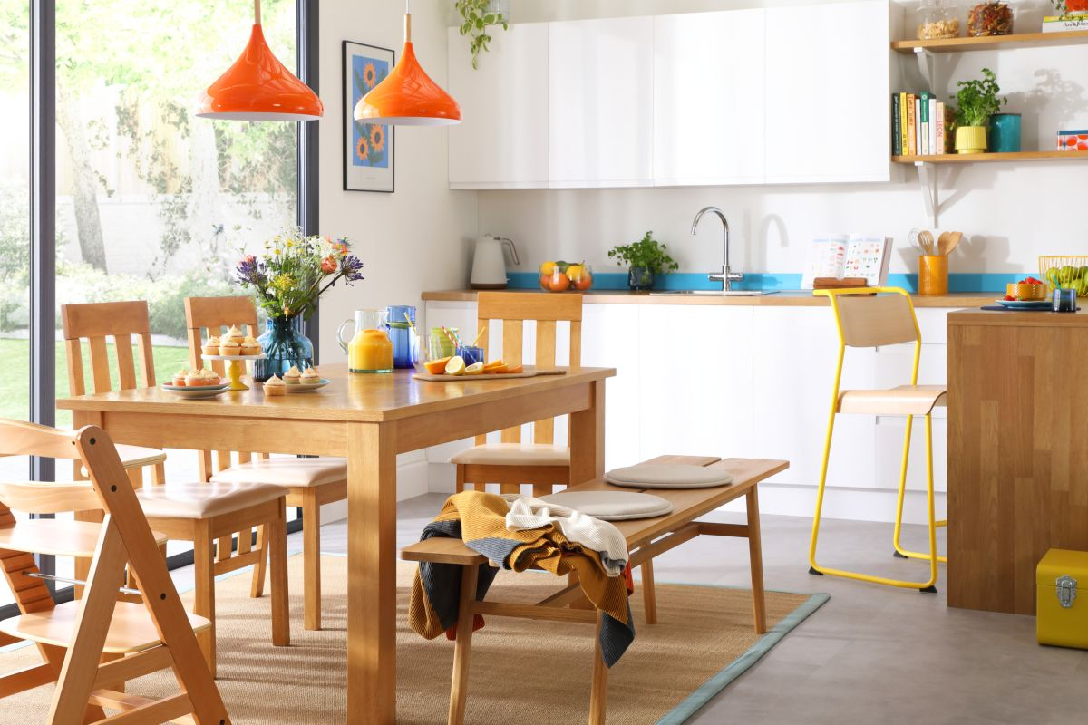Hamilton Table, Chester Chairs and Bench - Living In Colour