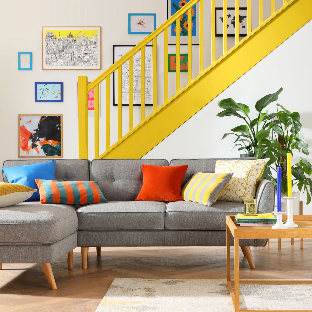 Harlow Grey L Shaped Sofa - Living in Colour