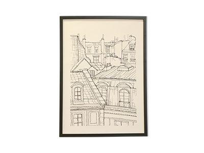 Roof Tops In Paris Poster - Desenio
