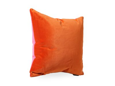 Orange and Pink Velvet Cushion - Luxe 39