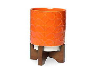 Stem Orange Plant Pot - Orla Kiely