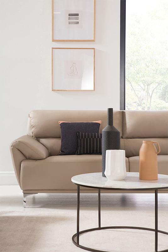 Modern minimalist living room.