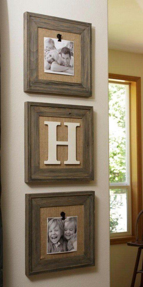 Wooden framed photos and art