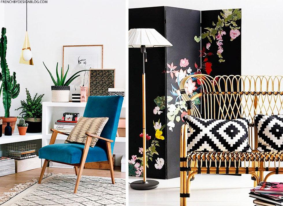 Assortment of colourful spaces.