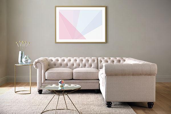 Hampton Oatmeal Fabric sofa.
