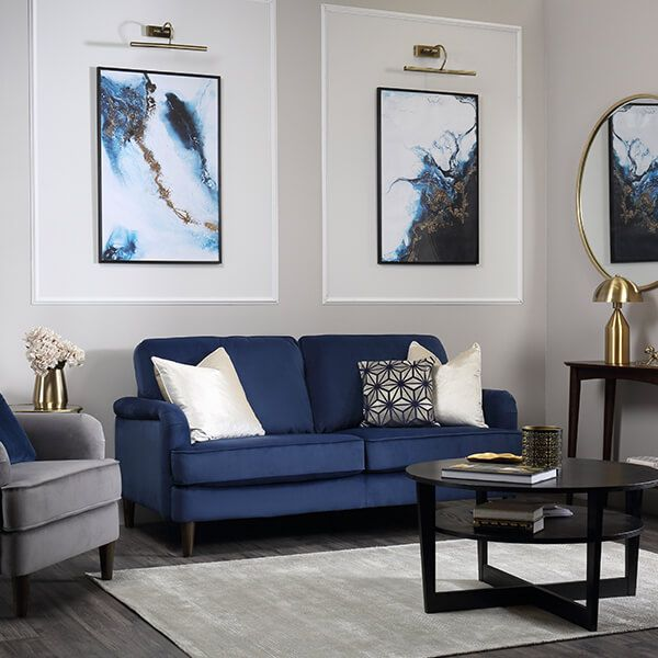 5 ways to style your grey and blue living room