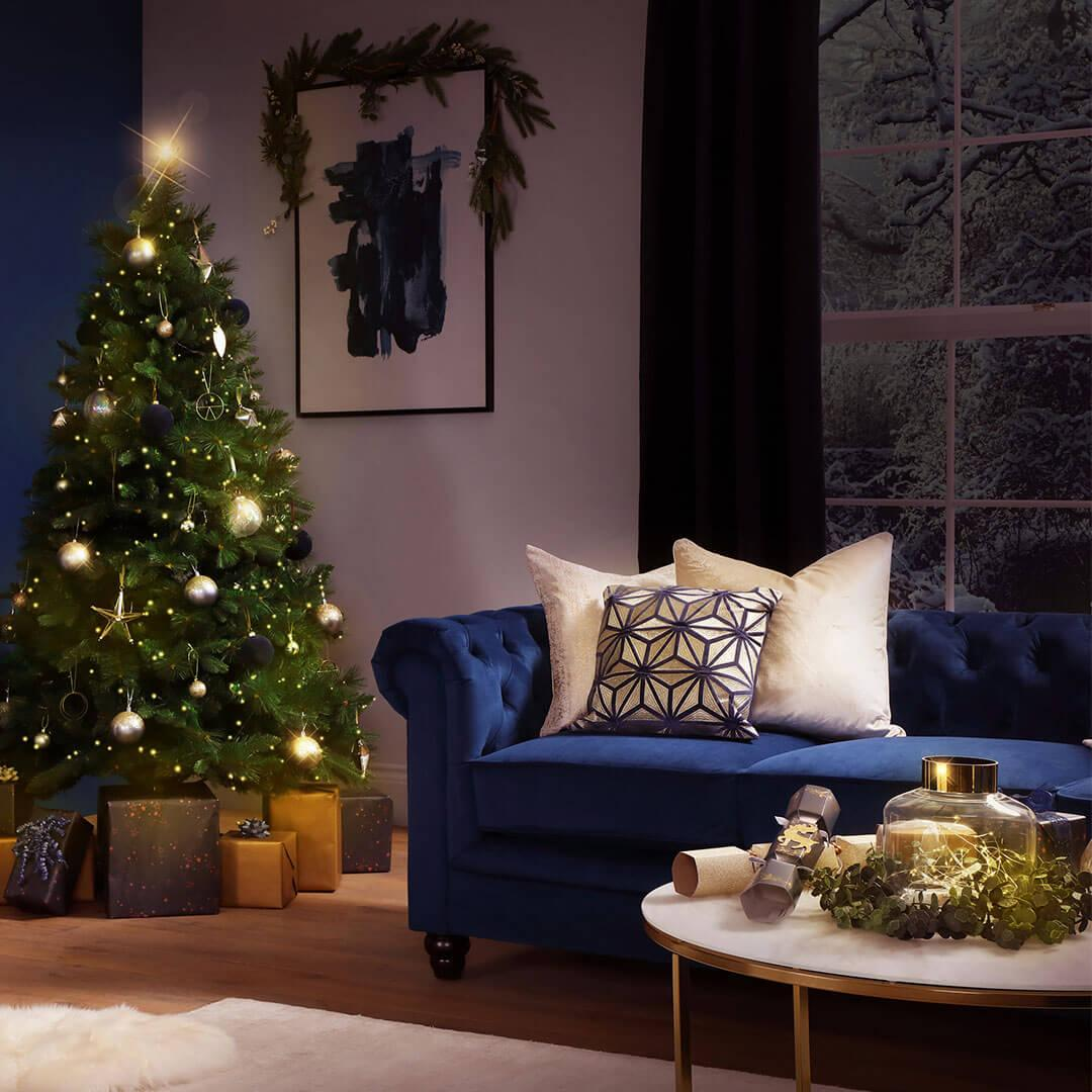 Skip the red décor: 5 ways to style a dazzling blue Christmas this year